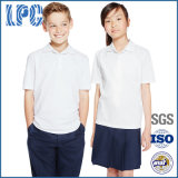 Camice di polo uniformi pure unisex del cotone dell'allievo