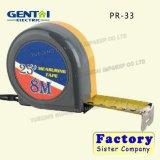 cintas de medición promocionales de la cubierta plástica de los 5m