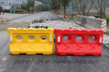 Jiachen Factory Direct Sale Road Water Filled Three Hole Plastic Traffic Barrier