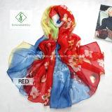 Großer Lichtschutz gedruckte Strand-Form-Dame Silk Scarves