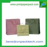 Sac de papier de empaquetage de sac à provisions de mémoire faite sur commande de mode