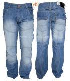 Los hombres de moda Jeans jeans de mezclilla cuadriculado