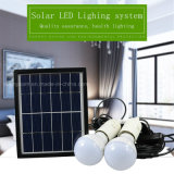Système d'éclairage à énergie solaire portable avec 2 ampoules LED lumière solaire pour la maison tente de camping
