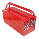 Caja de herramientas de metal 5 bandejas con voladizo para almacenamiento de herramientas