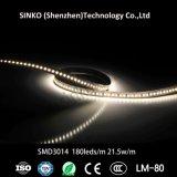 Indicatore luminoso di striscia Dotless flessibile nero del PWB SMD2835 180 21.5W LED di PCB/White PCB/Brown