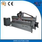 Máquina do router do CNC do Woodworking das Mult-Cabeças com Ce do GV
