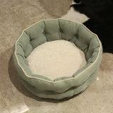 애완 동물 제품 녹색 둥근 온난한 연약한 애완 동물 침대