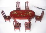 Mini-mobiliário antigo --- mesa de jantar (FG-C-201)