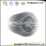Disipadores de calor de aluminio sacados excelentes del girasol del material de construcción