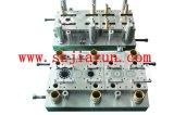 ブラシレスモーター回転子の固定子スタックのための型を押す連結の金属