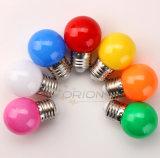 Bombilla del mini G45 E27 LED del día de fiesta color de la decoración