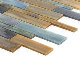 Precio de fábrica de cristal clara Mosaico Houston iridiscente Craft Tiles