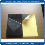 El álbum duro empapela blanco negro auto-adhesivo del PVC de la hoja