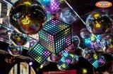 Kubus van de Decoratie van het Plafond van de Nachtclub van de Staaf van SMD 5050 leiden 384PCS de Hangende Lichte 3D