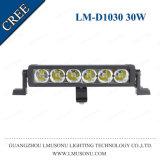 Rechte LEIDENE van de Duim van de Kwaliteit 6000K van Lmusonu de Beste Offroad 10-30V 9 30W Lichte Enige Rij van de Staaf
