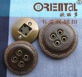 Modo Im. 4-Hole di cuoio Button (C-211IL-16#/ABA)