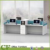Un style simple 6 sièges Bureau de poste de travail du personnel de partition droites