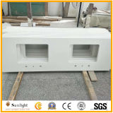 Kunstmatige Zuivere Witte Countertops van de Steen van het Kwarts voor het Project van de Badkamers van de Keuken