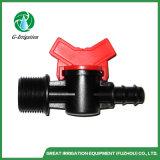 Conexão Farpada de irrigação de plástico do bloqueio da válvula Mini para fita gotejadora & Tubo