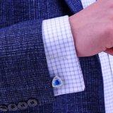 Os homens VAGULA Jóias Cristal Azul Claro alfinetes 366