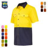 Fabrikant Twee Overhemd Vis van het Werk van de Veiligheid van de Koker van de Toon het Korte hallo