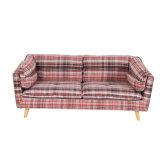 2つのカラーファブリック居間のソファー