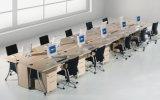 Stazione di lavoro moderna superiore del cubicolo dell'ufficio del comitato di vetro elegante di T-Figura (SZ-WS338)