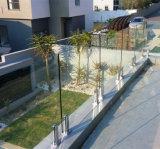 バルコニーの塀デザインステンレス鋼のFramelessのガラス柵