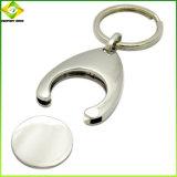 China Fornecedor Metal branco Personalizado Bonitinha Keyring para Dom