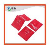Trapo rojo Hang Tag/Impresión personalizada etiquetas tejidas