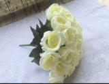 Venda por grosso de 24 Seda Chefes Rose bouquet flores Flores artificiais de casamento