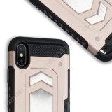 Armadura de híbridos resistentes a los golpes parachoques caso para el iPhone 8