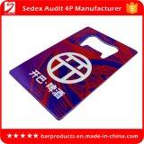 Diseño creativo de la tarjeta de crédito Abrebotellas con impresión colorida
