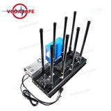 Ecológica de alta potencia Jammer ocho bandas de interferencia para CDMA/GSM/3G2100MHz/4/2.4G glte celular wifi/Bluetooth/GPS/Glonass/Galileol1l2