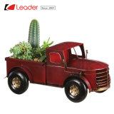De populaire Wijnoogst Geïnspireerde Rode Vrachtwagen van het Metaal van Kerstmis voor de Decoratie van het Huis en van de Tuin, maakt Uw Eigen Planter van de Vrachtwagen van het Metaal