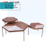 Venda a quente folheado de madeira de nogueira Design Moderno mesa de café