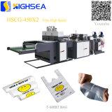 Taglio di plastica biodegradabile di calore della termosaldatura del sacchetto della maglia del sacchetto della maglietta che fa macchina Hscg450X2
