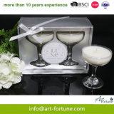 Conjunto de 2 velas jarra de vidro de alta qualidade na caixa de oferta para a decoração da casa