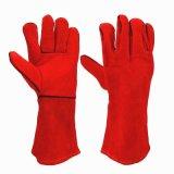 Handschoenen die van het Werk van het Leer van de Laag van de koe de Gespleten Dubbele Handschoenen lassen