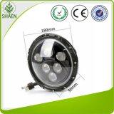 Luz de condução redonda do diodo emissor de luz da luz do carro do diodo emissor de luz do CREE de 7 polegadas para 60W Offroad