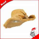 Chapéu da forma do chapéu de vaqueiro do chapéu de palha do Raffia