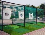 Compensação da gaiola de Prática de golfe verde em redes de plástico