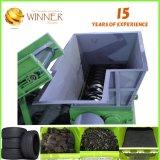 para el corte inútil del neumático y reciclar la desfibradora doble del eje de la máquina