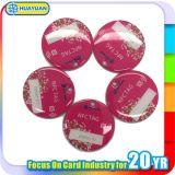ETIQUETA DE EPOXY interactiva móvil de la laminación Ntag216 NFC del PVC