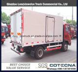 LHD Isuzu 4X2 2-3tons冷却装置フリーザーのヴァンによって冷やされているトラック