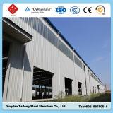 Edificio de la estructura de acero para el taller