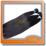 毛のWeftブラジルの漆黒の直毛