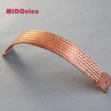 Conector elétrico trançado plano flexível em cobre