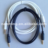 Cable de audio estereofónico de 3,5 mm mini Jack esterlina