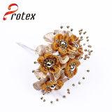 Tissu satin artificiel Fleur décorative de mariage de commerce de gros